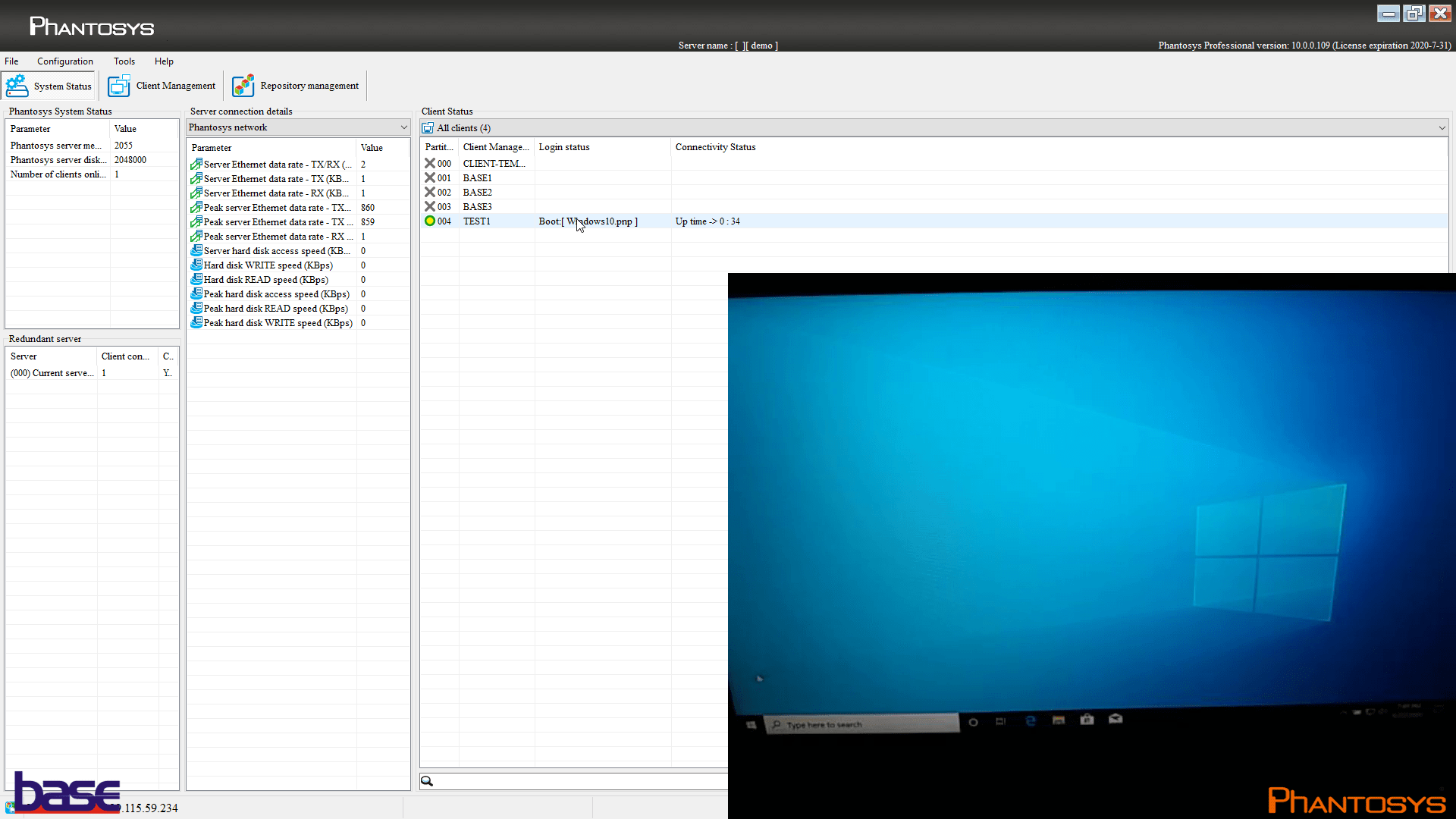 Windows is loaded in a few seconds and it's ready for use